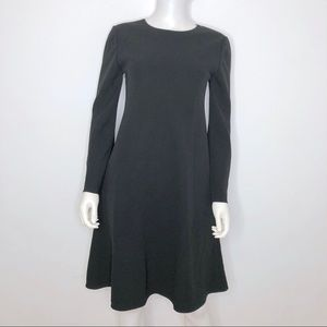 Lafayette 148 Bell Sleeve Dress Small Black A Line